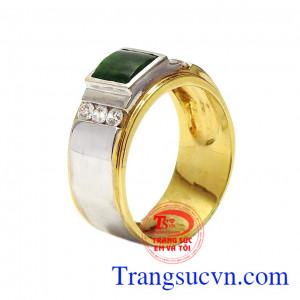 Nhẫn nam vàng Jadeite nam tính