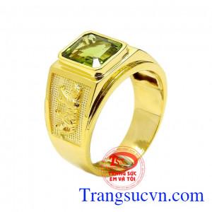 Nhẫn nam vàng Peridot tuổi Dần