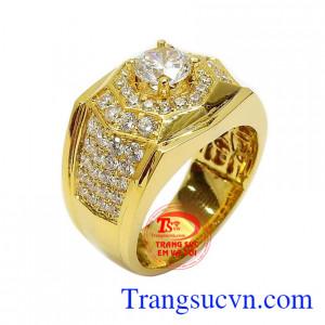 Nhẫn nam vàng tây thịnh vượng