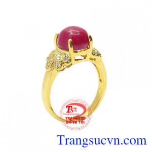 Nhẫn nữ ruby sao lấp lánh