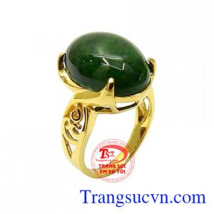Nhẫn nữ vàng cẩm thạch bình an