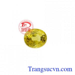 Sapphire vàng ép vỉ hưng thịnh thường được gắn lên các loại trang sức mang lại sự sang trọng, thời trang và phong thủy