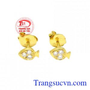 Hoa tai nữ vàng nhỏ xinh