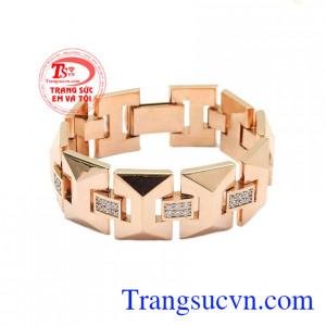Lắc tay vàng hồng thời trang