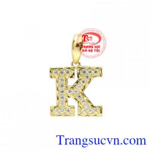 Mặt dây chữ K chất lượng