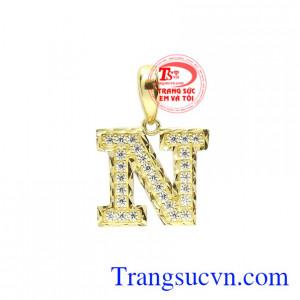 Mặt dây chữ N thời trang