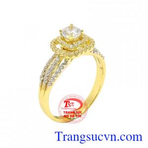 Nhẫn nữ đính đá sành điệu