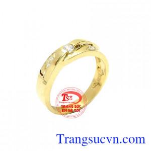 Nhẫn nữ vàng màu thanh lịch