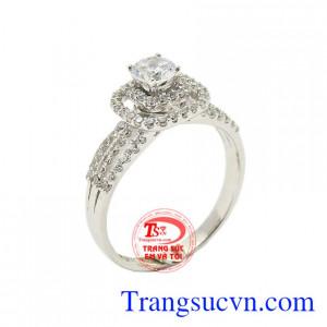 Nhẫn nữ vàng trắng say mê