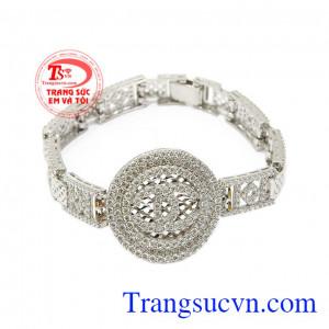 Lắc tay bạc Chanel