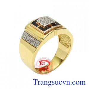 Nhẫn nam vàng phóng khoáng