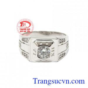 Nhẫn nam vàng trắng công tử mang đến một sản phẩm hoàn hảo cho người dùng.