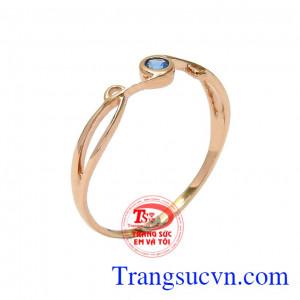 Nhẫn nữ vàng mong manh dành cho những cô nàng yêu thích sự dịu dàng, đơn giản,Nhẫn nữ vàng mong manh