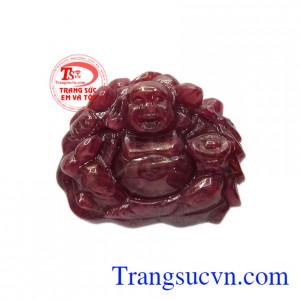 Phật di lặc ruby kim tiền