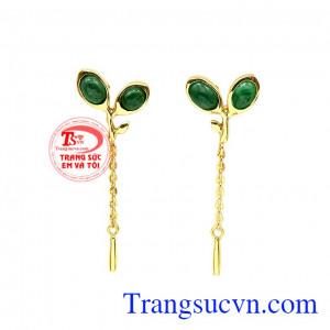 Hoa tai emerald thiên nhiên đẹp