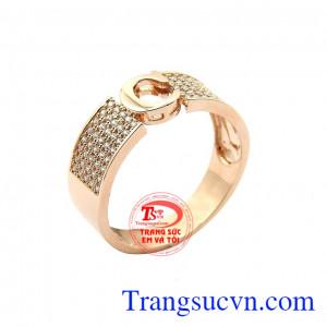 Nhẫn nam vàng hồng thời trang