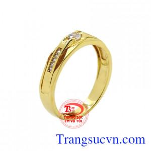 Nhẫn vàng phong cách thời trang