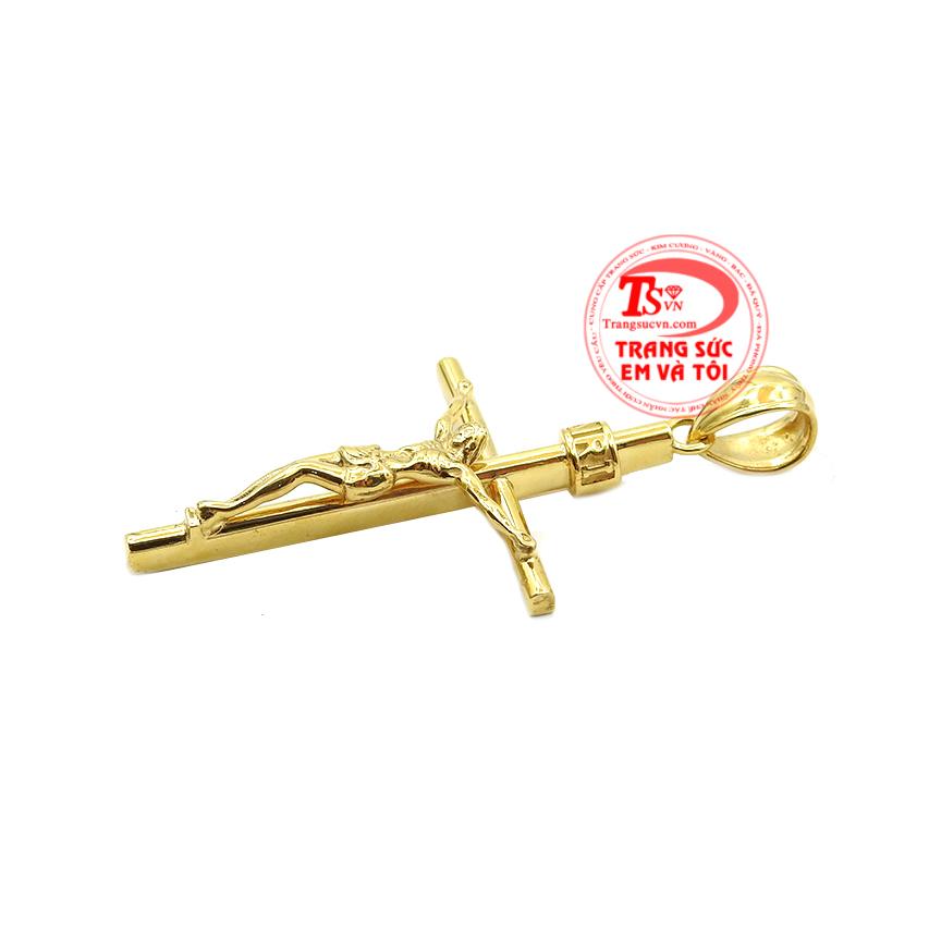 Hình ảnh Chúa Giêsu bị đóng đinh trên thập tự giá đã trở thành cảm hứng cho những nhà chế tác tạo nên mặt dây thánh giá đẹp. Mặt thánh giá vàng tây đẹp