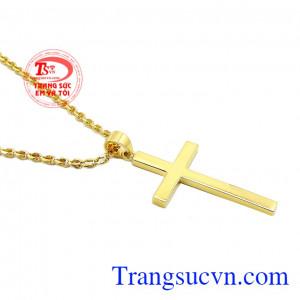 Sản phẩm phù hợp với nhiều kiểu trang phục, nhiều độ tuổi. Bộ thánh giá vàng đức tin