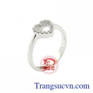 Nhẫn nữ trái tim thủy chung