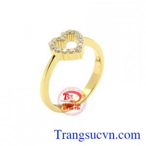 Nhẫn nữ vàng thời trang phong cách