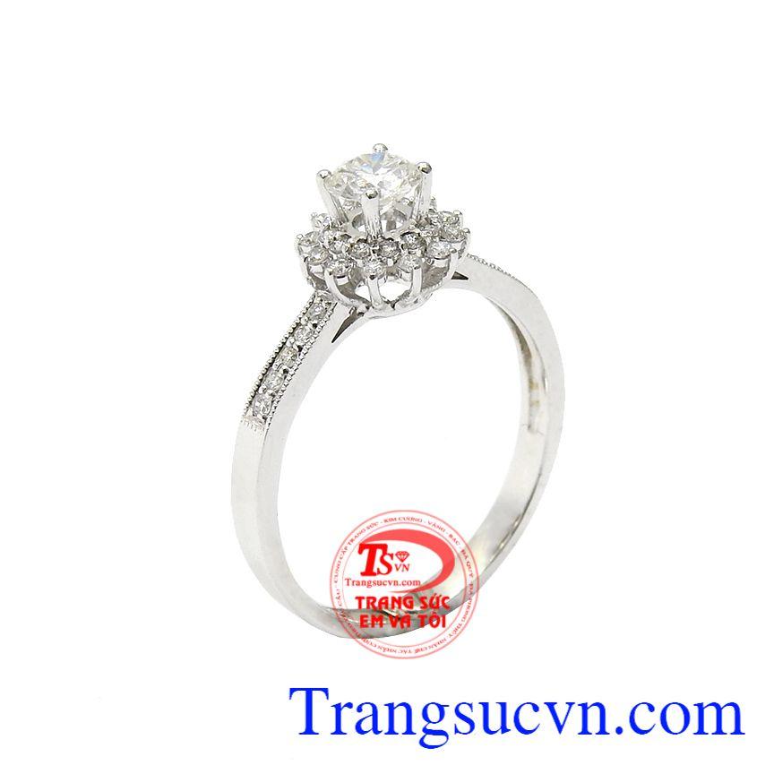 Nhẫn nữ kim cương rạng ngời