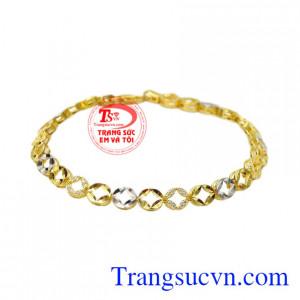 Lắc tay vàng thời trang phong cách