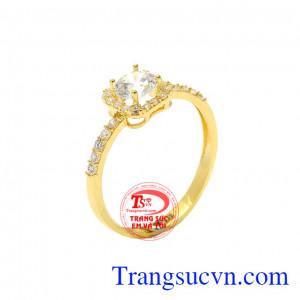 Nhẫn nữ đẹp vàng tây