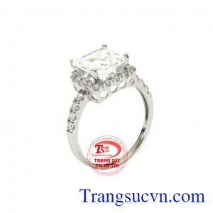 Nhẫn nữ sang trọng vàng trắng