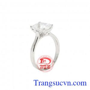 Nhẫn nữ tinh tế vàng trắng