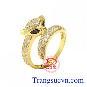 Nhẫn nữ vàng hồ ly quyến rũ