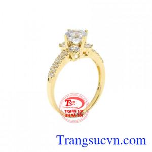Nhẫn nữ vàng hoa lệ