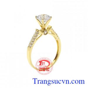 Nhẫn nữ vàng nàng thơ