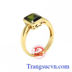 Nhẫn nữ vàng tourmaline thịnh vượng