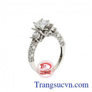 Nhẫn nữ vàng trắng đẳng cấp