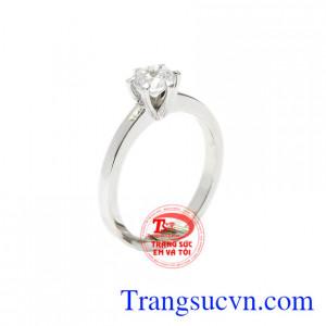 Nhẫn nữ vàng trắng gắn kết