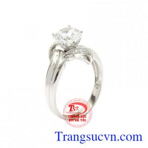 Nhẫn nữ vàng trắng quý cô