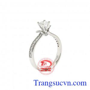 Nhẫn nữ vàng trắng thanh nhã