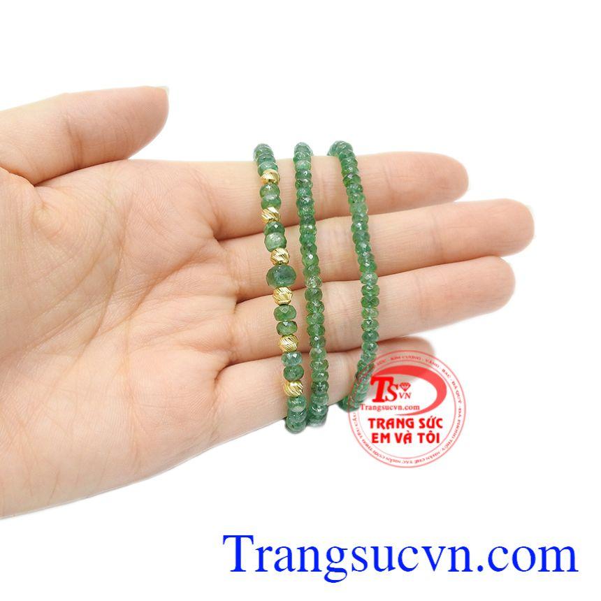 Chuỗi cổ Emerald bi vàng giao hàng trên toàn quốc.