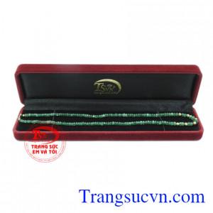 Chuỗi cổ Emerald bi vàng chất lượng