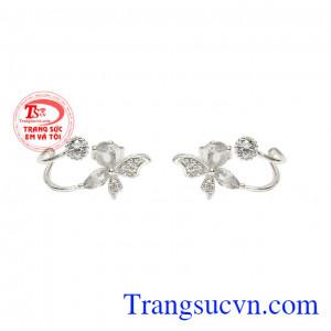 Hoa tai bạc phong cách