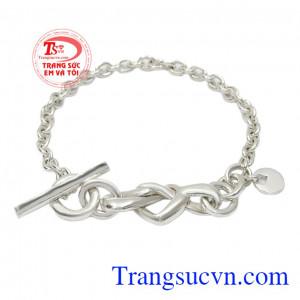 Lắc tay bạc thời trang