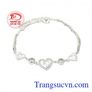 Lắc tay bạc trái tim