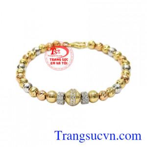 Lắc tay bi vàng thời trang