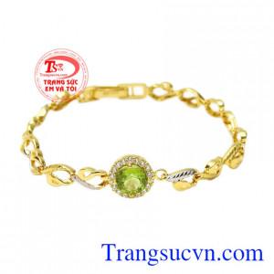 Lắc tay vàng peridot sung túc