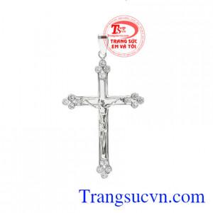 Mặt thánh giá jesus vàng trắng