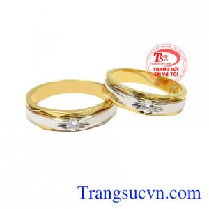 Nhẫn cưới vàng xu hướng