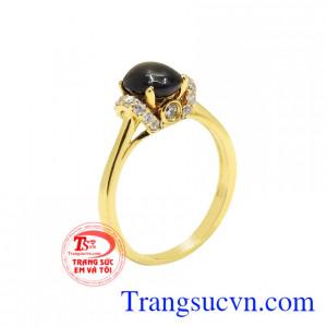 Nhẫn nữ saphir sao trang nhã