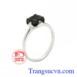 Nhẫn nữ saphir thanh tú