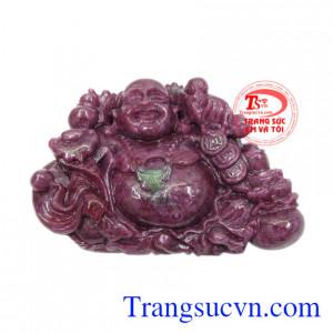 Phật Di Lặc ruby hưng thịnh